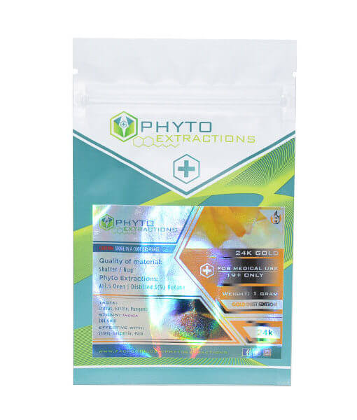 one package of Phyto Extracts-24K Gold Shatter