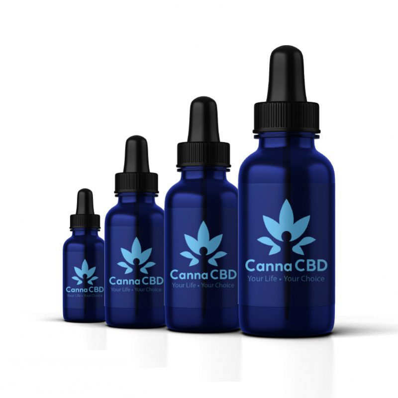 4 bottles of CannaCBD concentrate