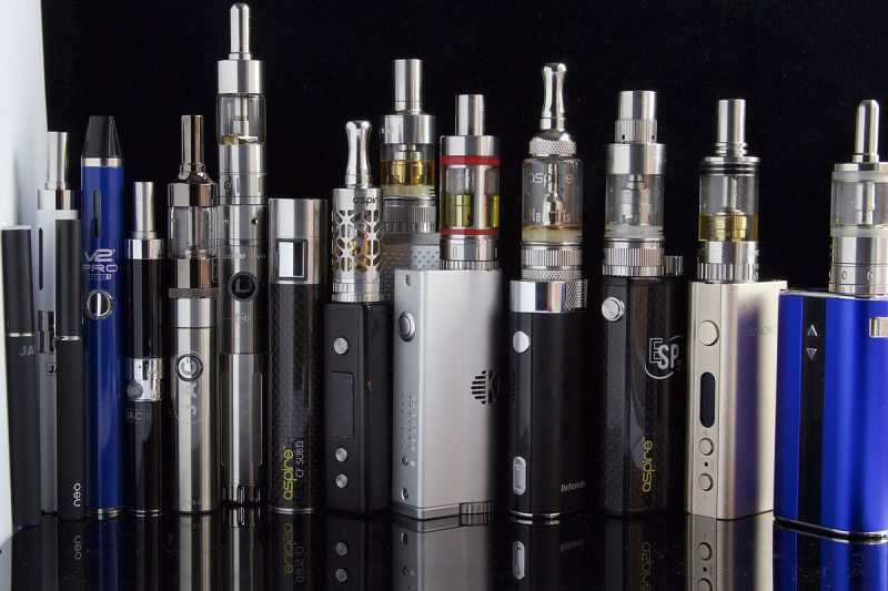 a collection of E cigarettes and vaporizers