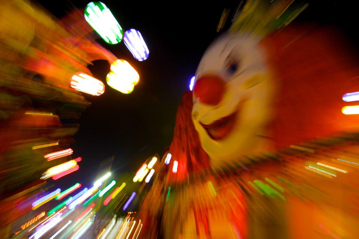 nightmare image of clown