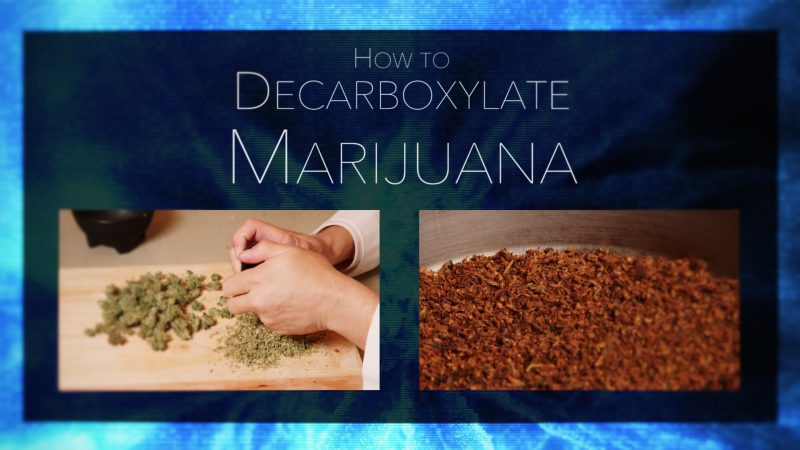 Before and after image of decarboxylation of cannabis