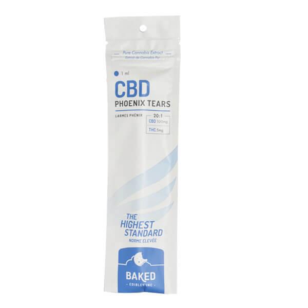Baked Edibles 100 mg strength CBD Phoenix Tears oil syringe