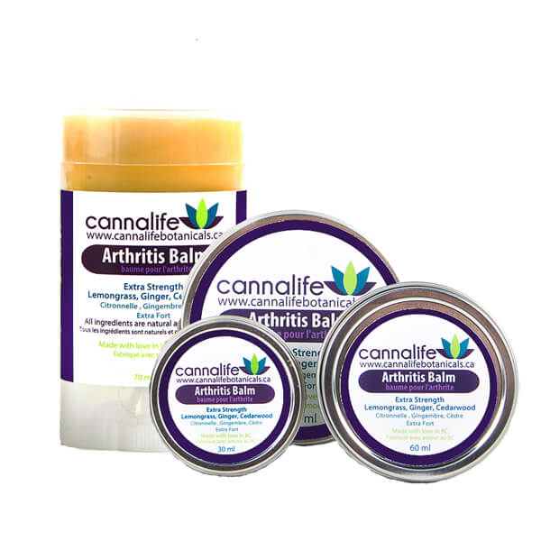 Cannalife Arthritis Balm in 3 sizes and a stick
