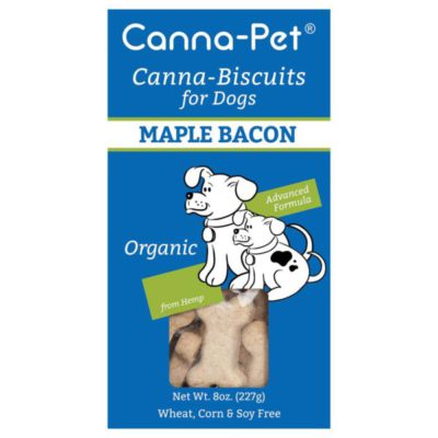 package of Canna Pet Maple Bacon hemp bisquits
