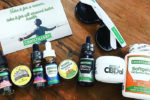 a collection of CBD tinctures and oils